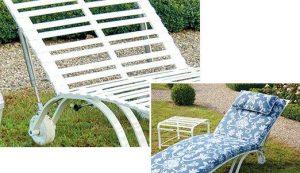 leichte Höhenverstellung bei der rostfreien Sonnenliege Toulouse durch Detailfunktionen für besseren Komfort bei der Erholung
