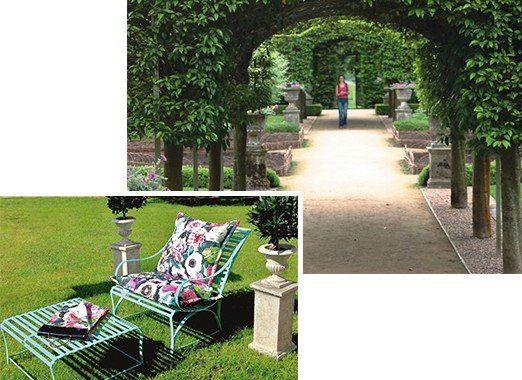 Schöner Sonnentisch und Gartensessel, komfortabler, witterungsbeständiger und pulverbeschichteter Edelstahl von LaSedia mit üppigen Polstern
