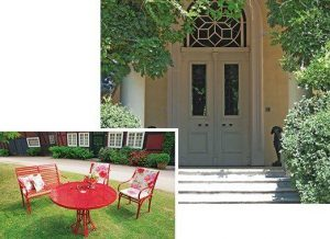 elegantes Gartenset mit rundem Riviera Gartentisch aus Edelstahl, Pulverbeschichtete Verarbeitung und wetterbeständig von LaSedia