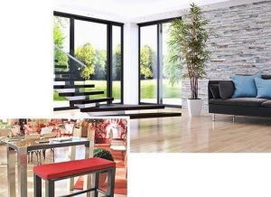 Grand Plaza Edelstahl Möbelgruppe mit modernem Design auch für Innen geeignet