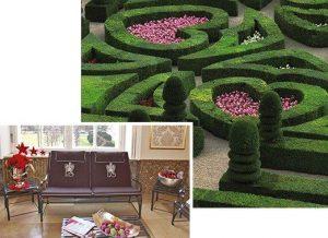 Edelstahl Loungemöbel Monaco mit eleganter Optik und Bequemlichkeit für den Wohlfühl-Bereich auch im Garten, mit Labyrinth