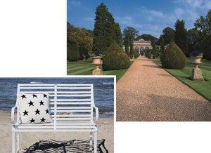 klassisch, zeitlose Edelstahl 2er / 3er Gartenbank Nizza am Strand oder im stilvollem Park