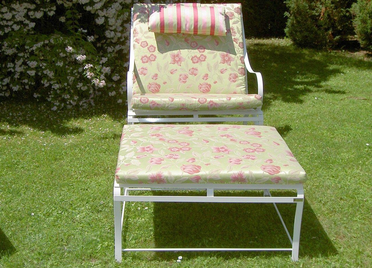 Sonnensessel Biarritz mit Sitzpolstern aus Kaltschaum