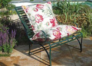 Sonnensessel Biarritz mit Mischfüllung aus Daunen und einer Hightech-Rhombe, anschmiegsam und komfortabel