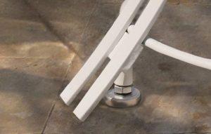 höhenverstellbare Edelstahlfüße in hervorragender Qualität, bodenschonend und standhaft auf unebenen Böden
