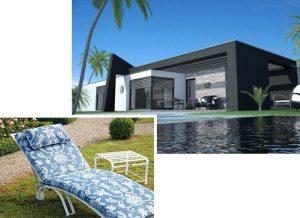 witterungsbeständige Edelstahl Gartenliege für Entspannung ganzjährig im Garten am Pool