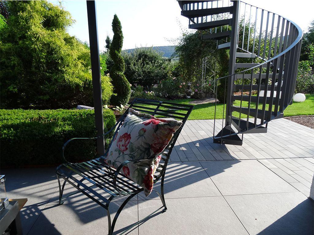 klassisch, zeiltose Gartenbank Nizza mit üppigen Kissen