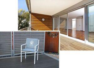 edler und zeitloser Gartenstuhl Grand Plaza aus Edelstahl mit Terrasse
