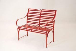pulverbeschichtete 2er/ 3er Sitzbank aus Edelstahl für den Garten, hochwertige Materialien die wetterfest und pflegeleicht sind, für draußen das ganze Jahr über