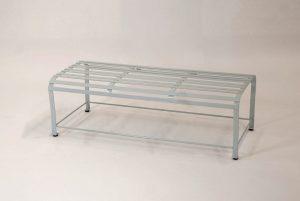 Hochwertiger Loungetisch aus Edelstahl handgearbeitet und Pulverbeschichtet; modernes, geradliniges Design; für den Wohn- und Gartenbereich und im Wintergarten